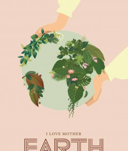 Affiche I LOVE MOTHER EARTH