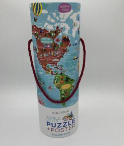 """Puzzle et poster """"World..."""