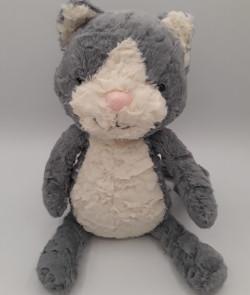 Chat gris et blanc - Jelly Cat