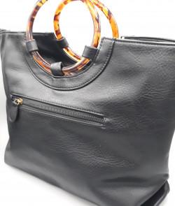 sac en simili cuir noir -...