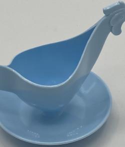 Coquetier cocotte bleue