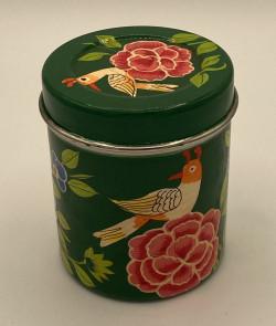 Boîte à thé métal peint à...