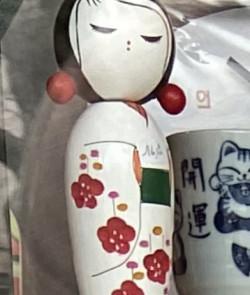 Poupée japonaise déco blanche