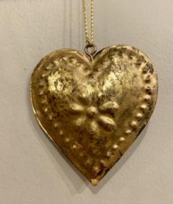 Pampille coeur doré