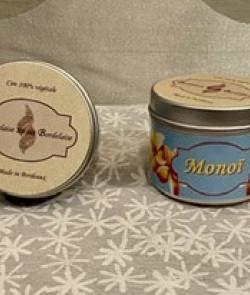 Bougie cire de soja «Monoï»