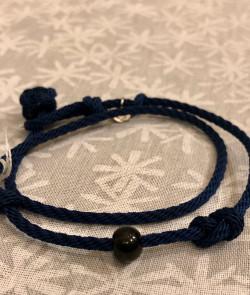 Bracelet double bleu marine
