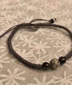 Bracelet simple gris foncé