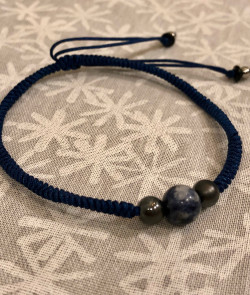 Bracelet simple bleu marine