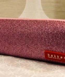 Trousse pailletée rose