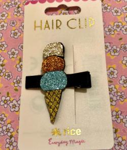 Barrette cheveux glace