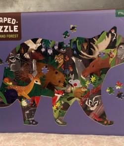 Shaped puzzle : Forêt boisée