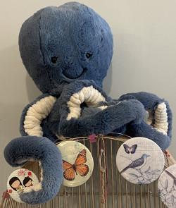Peluche Octopus big bleu
