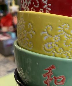 Bol japonais vert en céramique